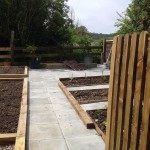A new vegetable garden designed for easy maintenance