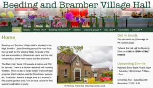 Beeding and Bramber Village Hall website
