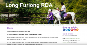 Screen shot of Long Furlong RDA's home page