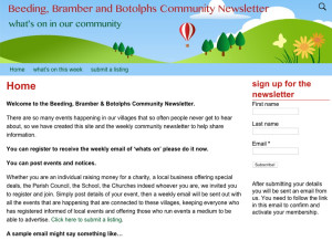 Beedein, Bramber and Botolphs newsletter website