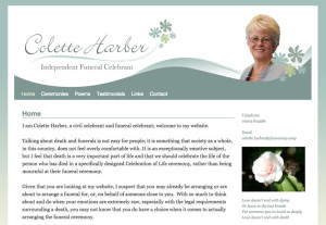 Colette Harber Funerals website
