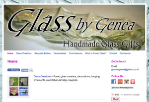 Glass by Genea screen shot of website