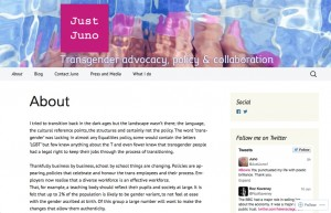 Just Juno blog website